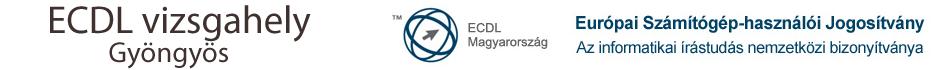 ECDL vizsgahely Gyöngyös Logo